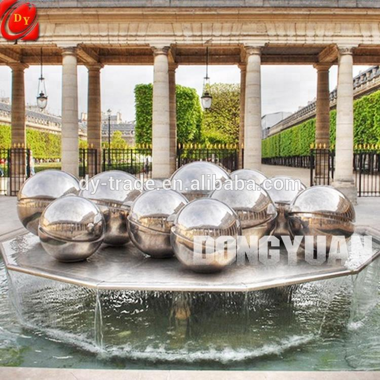 Decorate Garden Backyard with Polished Stainless Steel Ball, Water Feature Provided