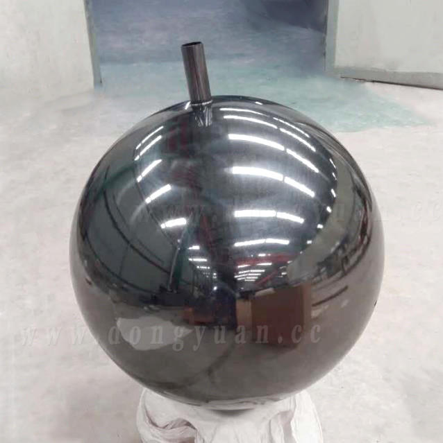 800mm Stainless Steel Garden Ball, Large Decoration Blue Color Sphere