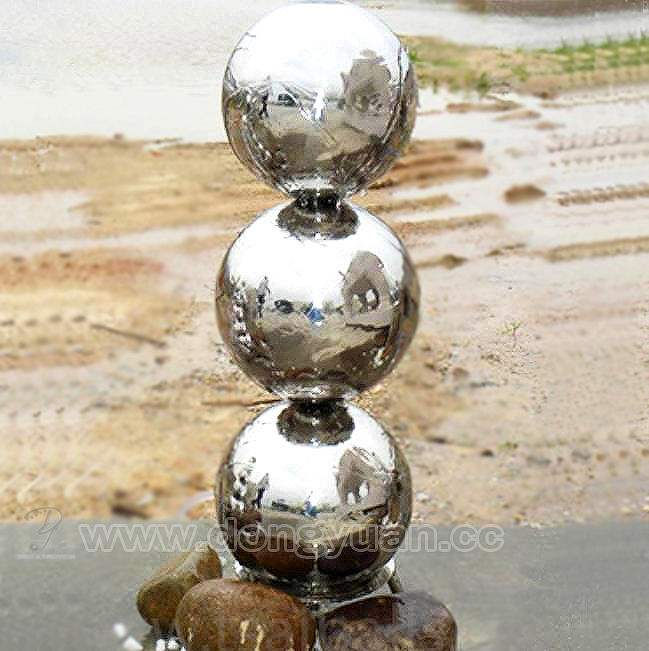 Stainless Steel Sphere Water Feature/Metal Smooth Mirror Ball Fountain