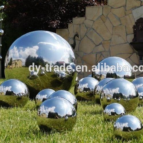 Large hollow stainless steel gazing ball chrome gazing ball for garden