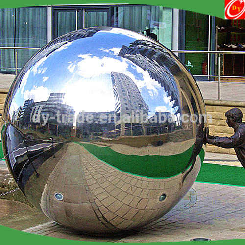 Large Decorative Outdoor Mirror Stainless Steel Sphere