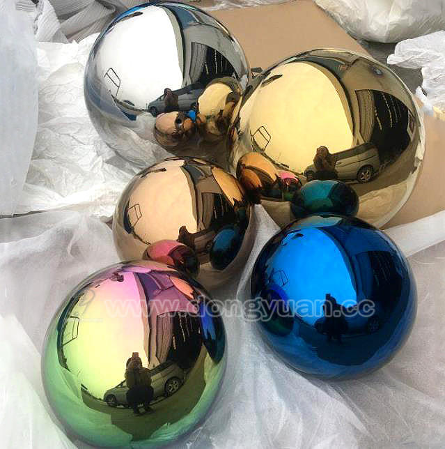 Stainless Steel Hollow Sphere with Natural Polished Silver Color,Reflective Balls