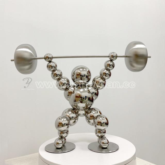 Stainless Steel Large Outdoor Sculptures / Metal Statue for Indoor Decoration