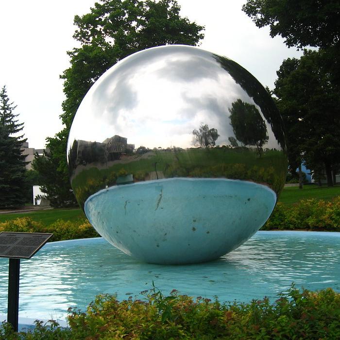 2M Stainless Steel Fountain Balls Mirror Sphere Giant Stainless Steel Balls