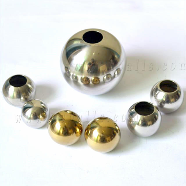 32mm51mm Gazing Stainless Steel Hollow Ball with Hole for Pipe Fittings