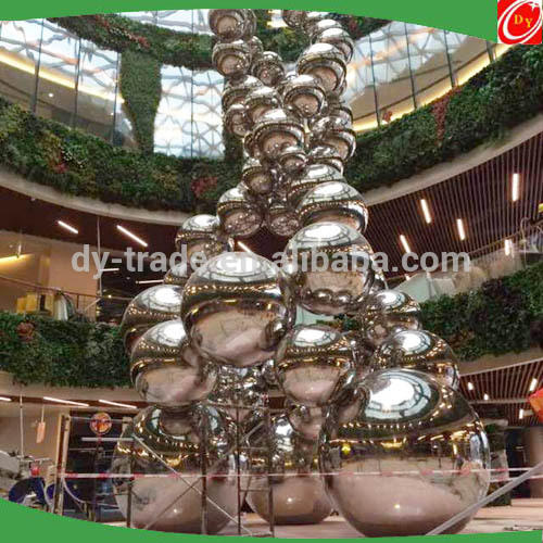 17 Meter Large Metal Outdoor Sculptures Stainless Steel