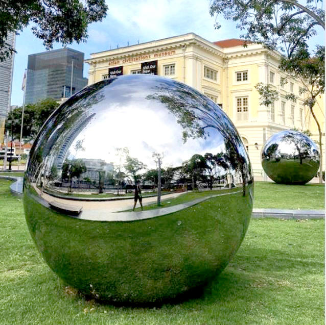 Large Stainless Steel Gazing Balls For Garden Decoration