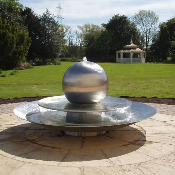 Large Polished Garden Water Fountain/Outdoor Indoor Decoration/Metal Craft