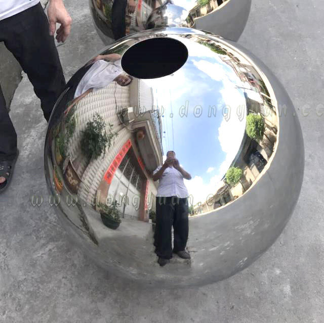 Stainless Steel Ball Mailbox for Outdoor sculpture