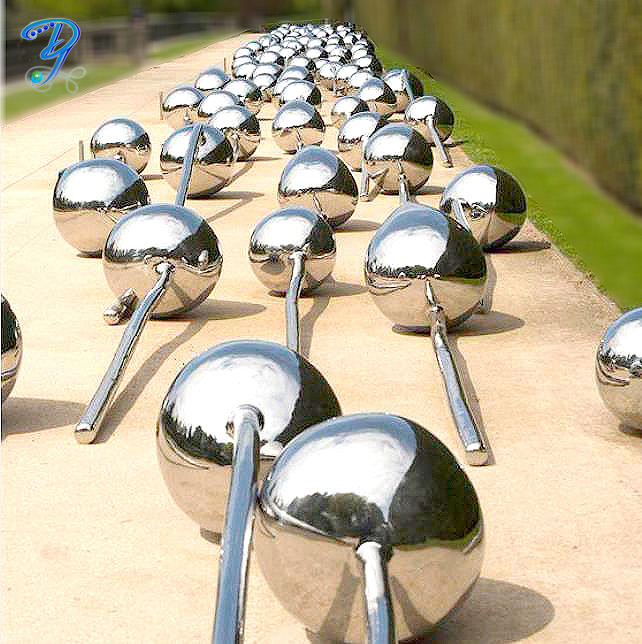 Silver Inox Steel Globe for Garden Decoration