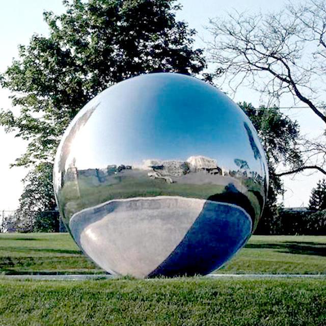 Silver Stainless Steel Gazing Globe Large Gazing Balls