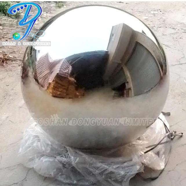700mm Stainless Steel Mirror Decorative Sphere Modern Fountains Garden