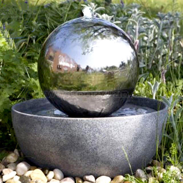 Silver ball water feature for garden China