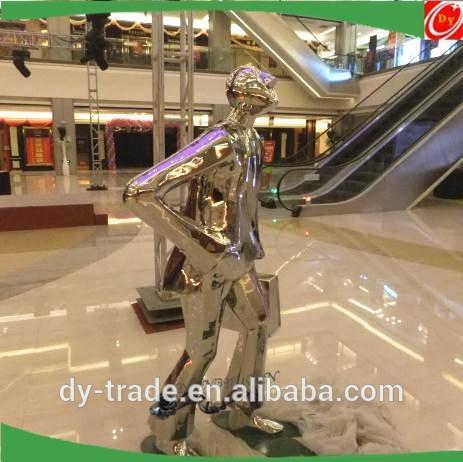 stainless steel figure sculpture/ metal sculpture for indoor decoration