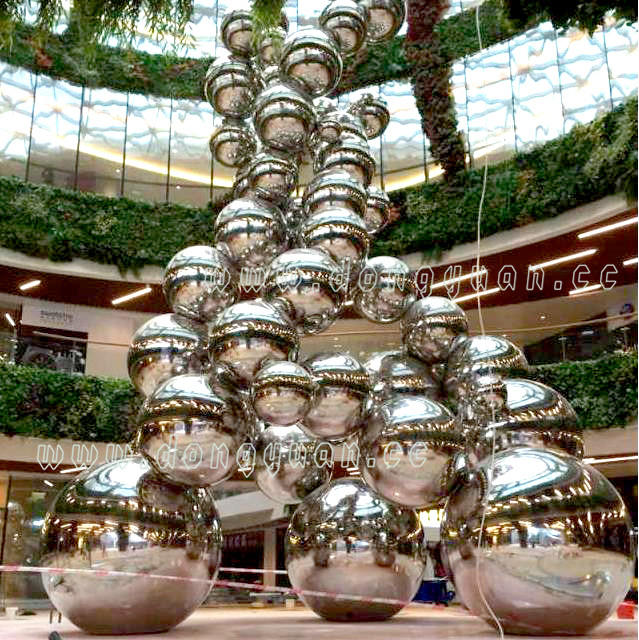 Mirror Stainless Steel Hollow Sphere for Garden Display Ornament