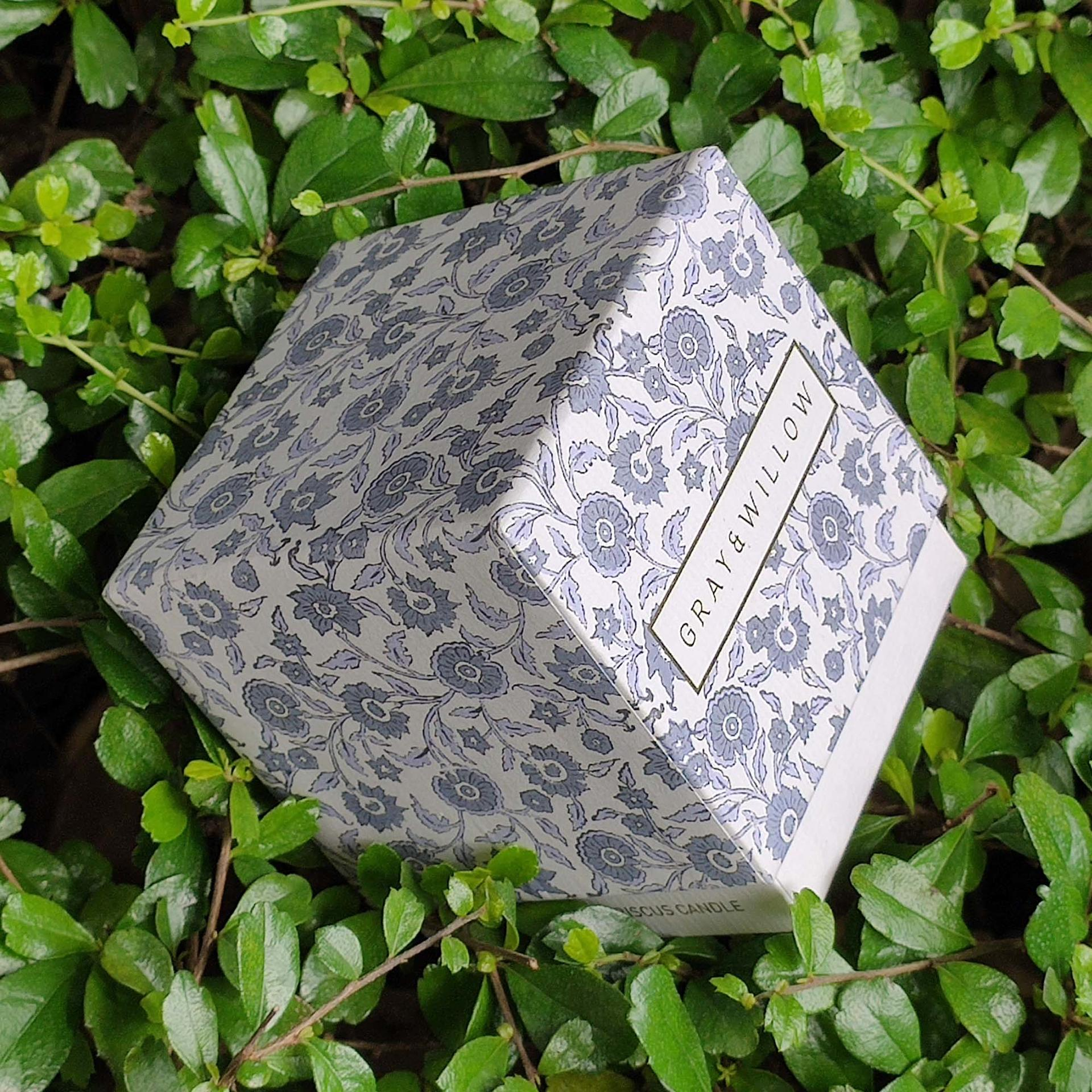 Rigid card fancy art paper box with lid custom logo full color printed luxury gift candle packaging box