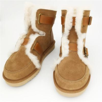 HQB-WS016 Fashionable hot selling snow boots premium quality thermal winter boots genuine sheepskin boots for women