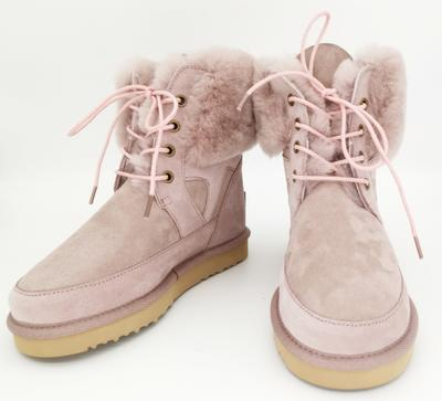 HQB-WS013 wholesale winter boots custom premium quality snow boots winter genuine sheepskin boots for women