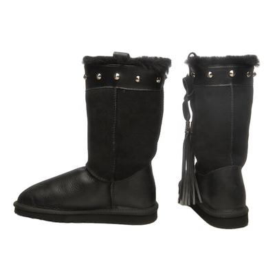 HQB-WS163 OEM customized premium quality winter thermal classic style genuine sheepskin snow boots for women