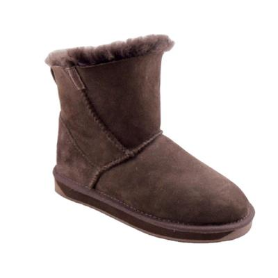 HQB-WS196 OEM/ODM customized high quality winter thermal fashion style genuine sheepskin snow boots for woman