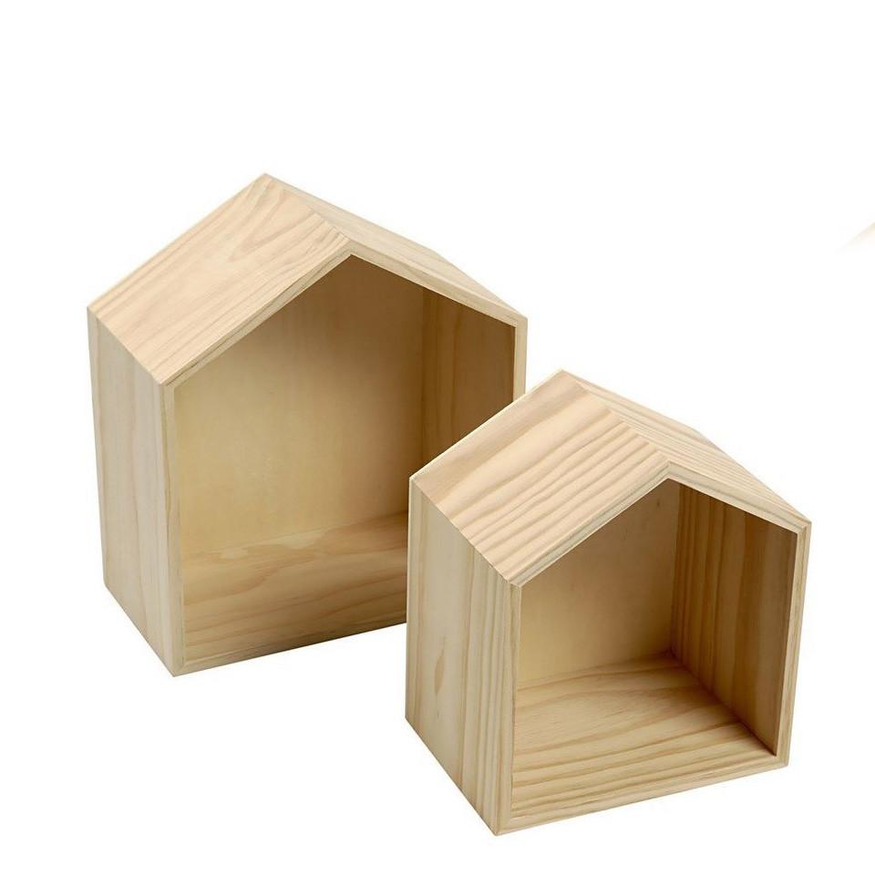 Custom home simple usefulwooden display box rack for storage