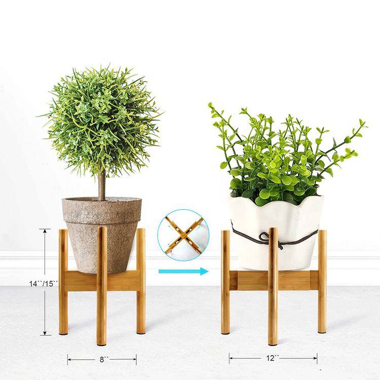 outdoor plant pot stand wooden flower garden pot display wood stand for flower pot