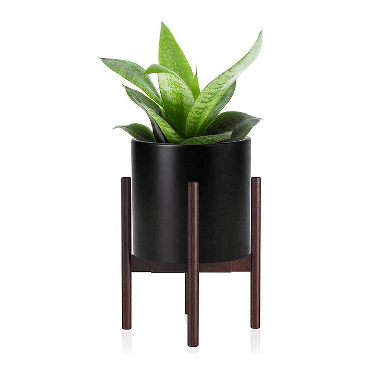 Simple and Elegant Nature Handmade DIY Bamboo Pine Beech Custom Wood Plant Pot Stand