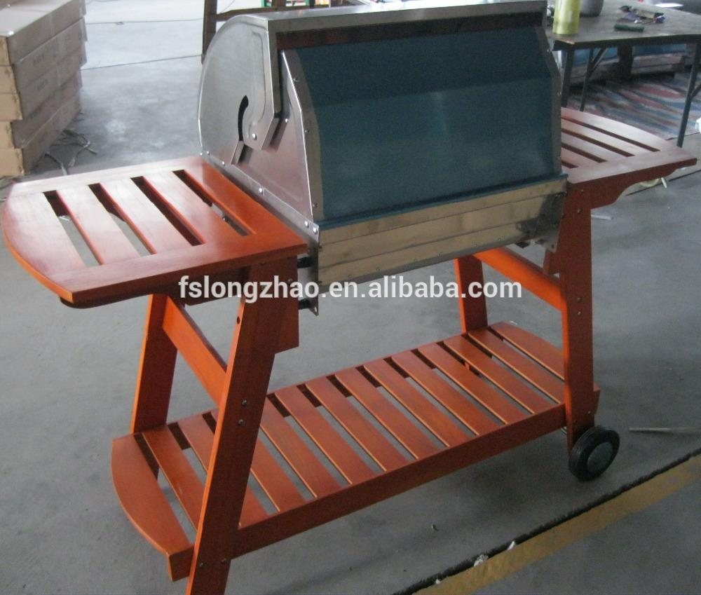 Assembly portable table charcoal bbq gas grill