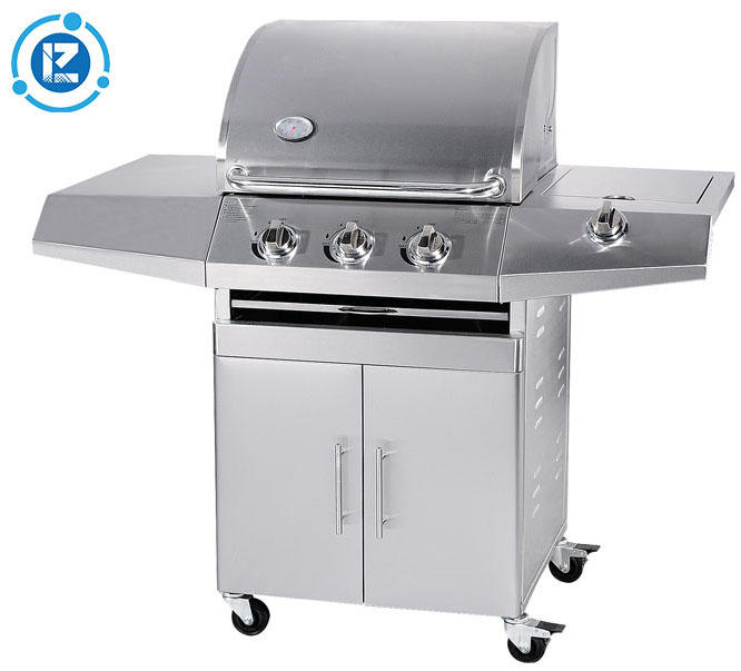 CE Approval low moq garden barbecue stainless steel 3 burners gas bbq grills