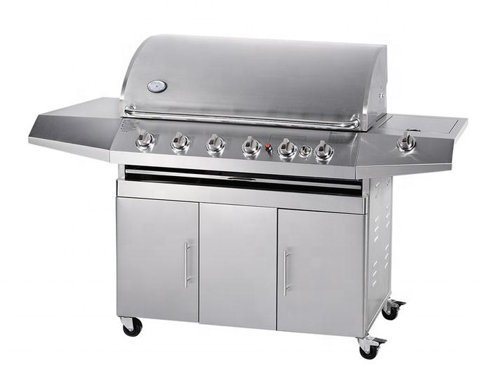 2020 Hot Sale BBQ Grills Stainless Steel 6 Burners Gas Barbecue Grills With CSA Certificate