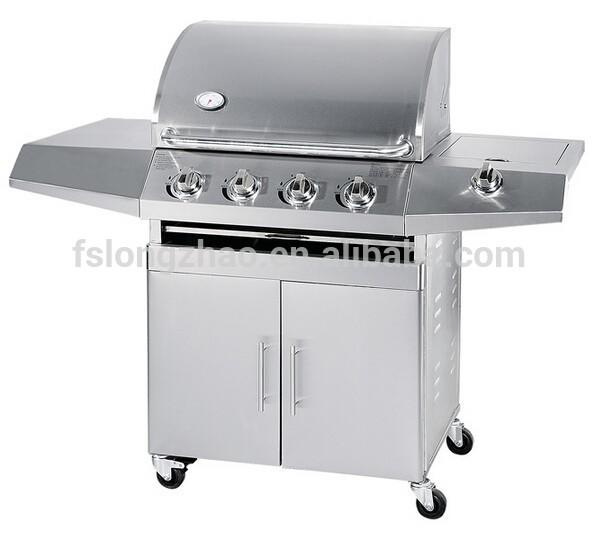 4 burners All stainless steel gas Barbecue grills 4 B+1SB