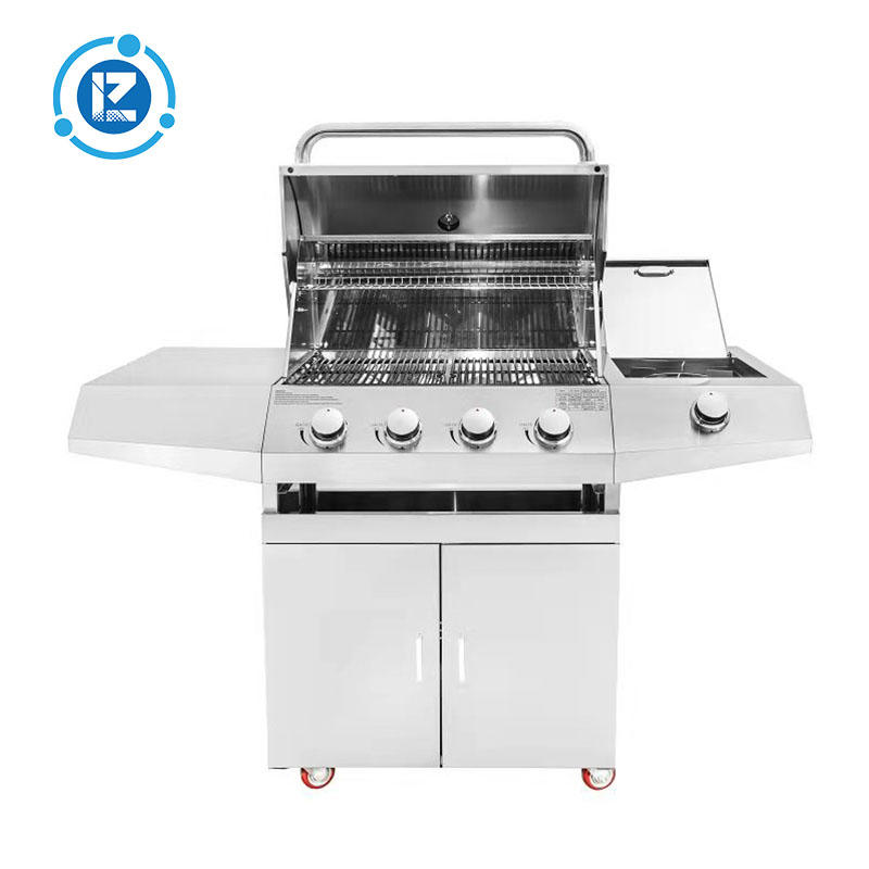 Outdoor 4burner Gas BBQ Grill With Infrared Back Burner