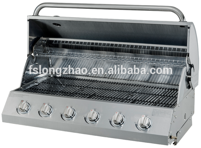 commercial 5 Burner Stainless Steel Gas Grill HSQ-A215S