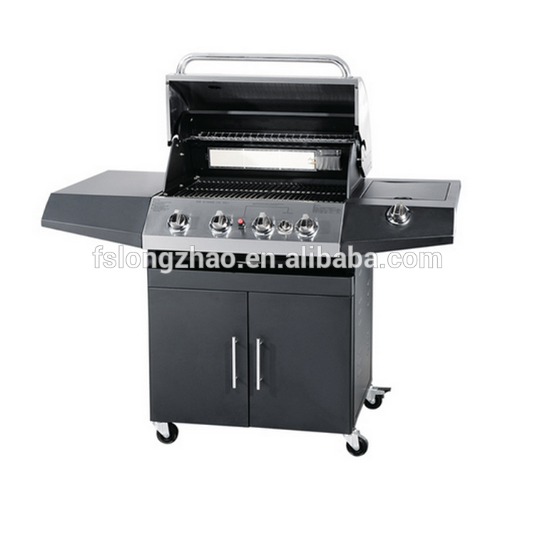 CE approval gas grill gas barbecue trolley BBQ gas cart