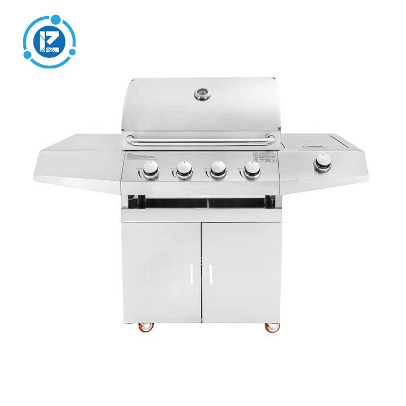 2021 New Design 4 Burners Barbecue Stainless Steel Kitchen Gas BBQ Grill