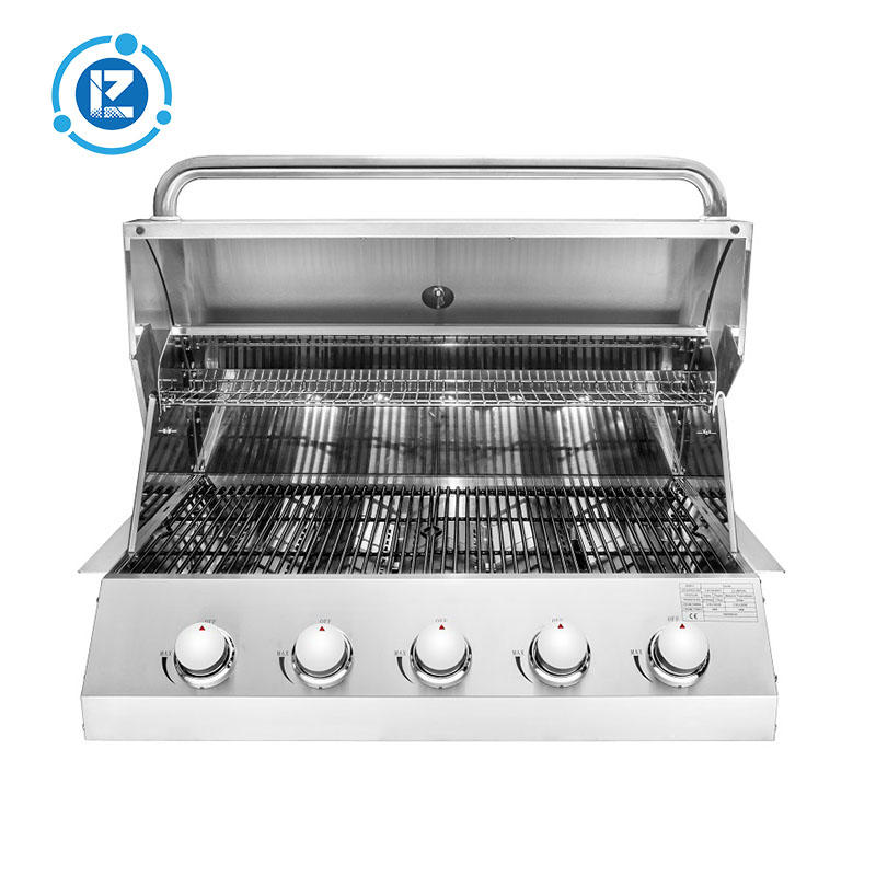 CE Approval BBQ Grill Kitchen Stainless Steel Built-In Gas Grills 5 Burners