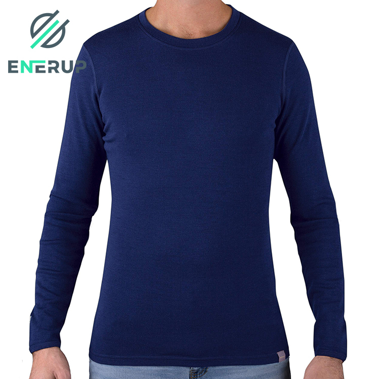 wholesale custom high quality winter 100% merino wool fleece fabric knitting thermal base layer long johns underwear mens