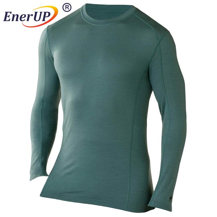 Men long johns thermal linen underwear merino jersey