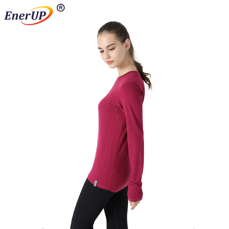 Breathable Jogger Pants Temperature Control Women Merino Wool Warm Pants