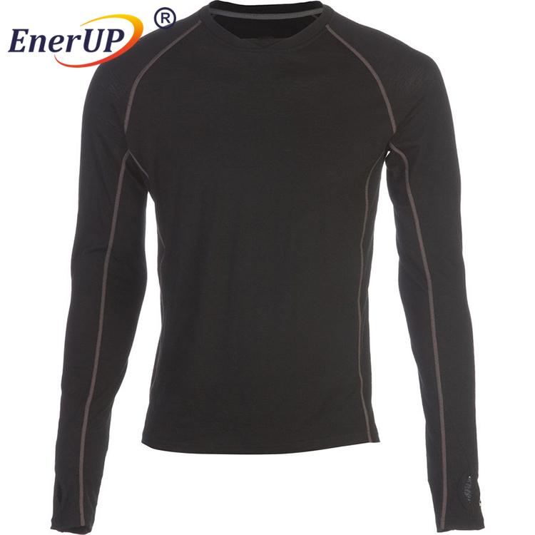 Merino wool heated underwear long sleeve thermals