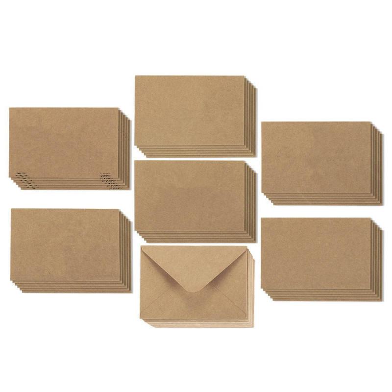 product-Dezheng-Elegant Mailing Kraft Paper Packaging Envelope Custom Thank You Cards-img-1