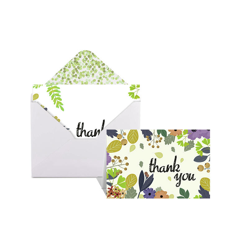 Thank You Order Card Customisable Greeting Card Printing Colorful Wedding Thank You Note Cards