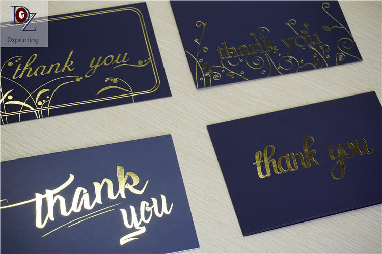 product-Dezheng-Custom Thank You Card Wallet Insert Rose Gold Full Color Printing Printed Personaliz-2
