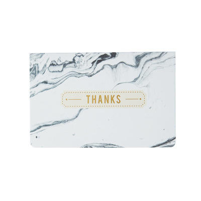 Popular Small Size Elegant Gold Foil Stamping Marble Greetings cards For Mother's Day Teacher's Day