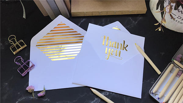 product-Custom Thank You Card Wallet Insert Rose Gold Full Color Printing Printed Personalized Thank-3