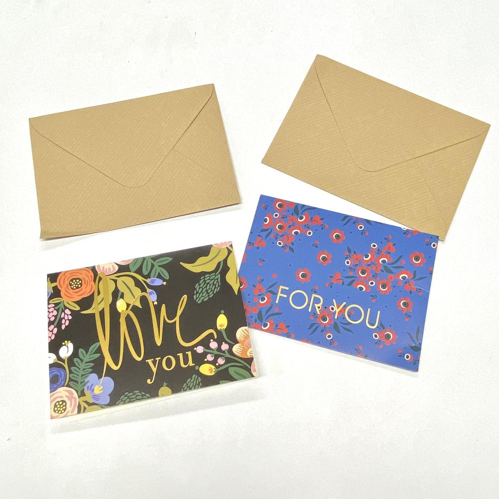 Elegant Mailing Kraft Paper Packaging Envelope Custom Thank You Cards