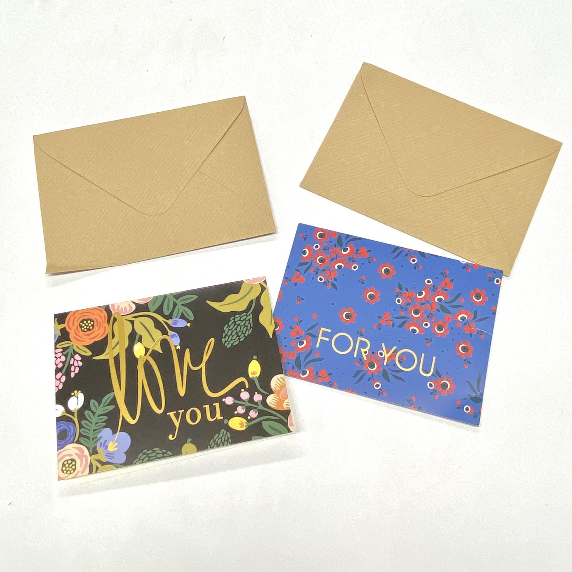 product-Elegant Mailing Kraft Paper Packaging Envelope Custom Thank You Cards-Dezheng-img-1