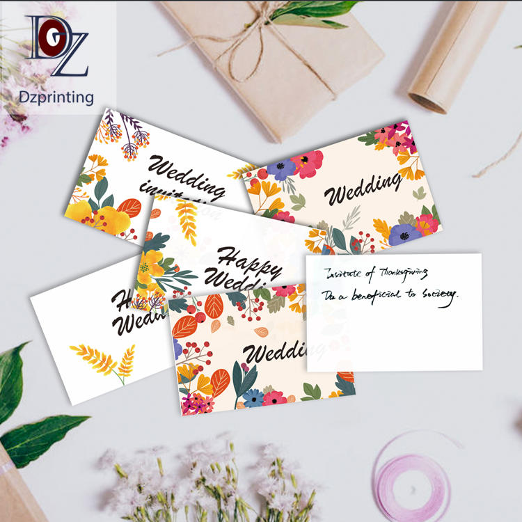 product-Custom Thank You Card Wallet Insert Rose Gold Full Color Printing Printed Personalized Thank-2