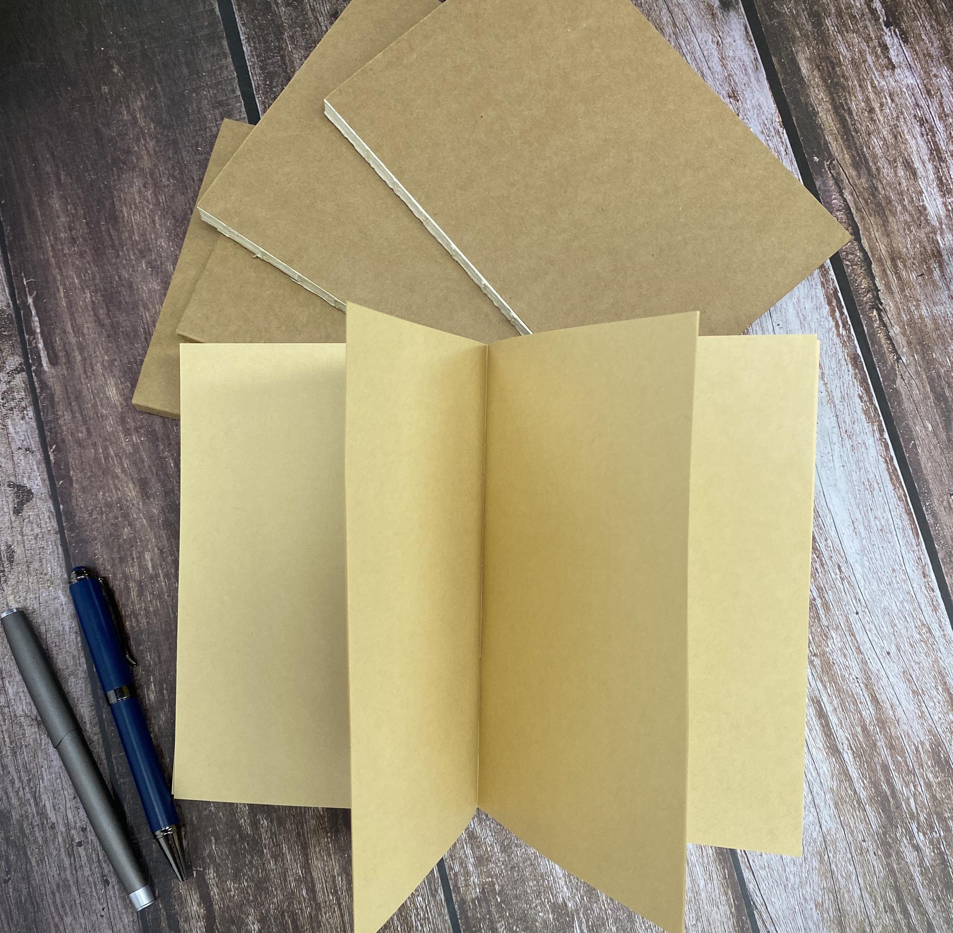 Dark Brown Kraft Notebook Blank Cover Paper Notebook Dark Brown Kraft Notebook