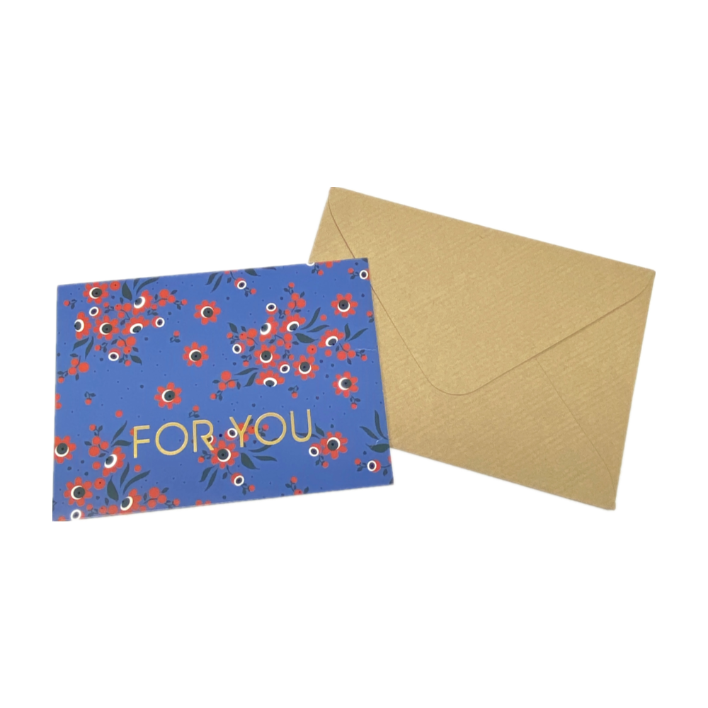 Special Foil Kraft Paper Packaging Envelopes Thank You Note Card